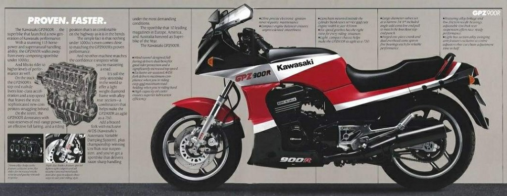Kawasaki GPZ900 84